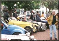 Cars on display.